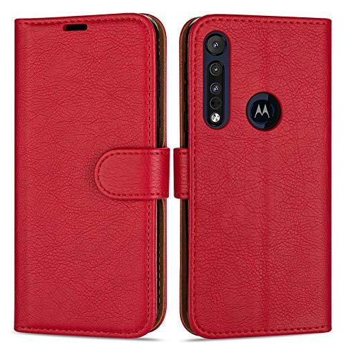 Hülle Collection Hochwertige Leder hülle für Motorola Moto G8 Plus Hülle (6,3