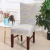NIKIMI Fundas de sillas geométricas Sofá nórdico Funda Antideslizante Elástica Silla Simple Protector de Asiento Multifuncional para Banquete