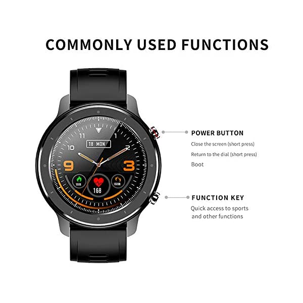 Reloj Inteligente Hombre, Smartwatch con Pantalla táctil, Fitness Tracker Impermeable IP68, Reloj Pulsometro Deportivo… 2