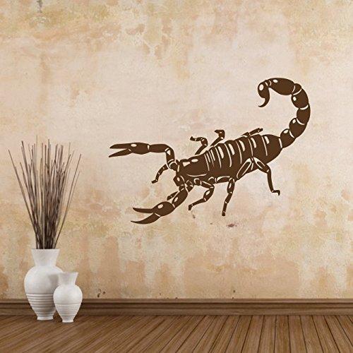 malango® Wandtattoo Skorpion Wand Tattoo Bild Wandbild Wandaufkleber Aufkleber Tier ca. 80 x 43 cm schwarz