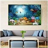 LKLKK Fantasie Ozean Poster Fisch Unterwasser Unterwasser