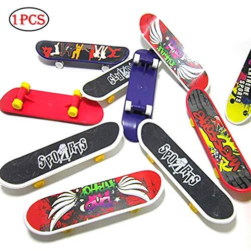 Xiton Kunststoff Finger Scooter Toy Mini Kinder Finger Scooter Skateboard Finger Spielzeug (Farbe Zufällig) 1 Stück