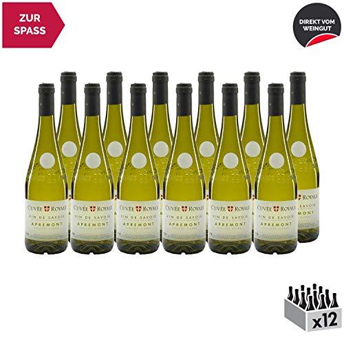 Vin de Savoie Cuvée Royale Apremont Vieilles Vignes Weißwein 2018 - Maison Perret - g.U. - Savoie - Bugey Frankreich - Rebsorte Jacquère - 12x75cl