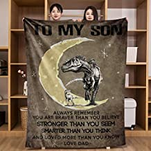 UFOORO Flannel Throw Blanket for My Son from Dad Cotton Christmas Birthday Gifts 50x60