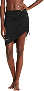 Cityoung Womens Swim Skirt Waistband Mid Length Skirted Bikini Bottom Cover-up Beachwear