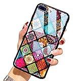 レインボーシリーズケース対応iPhone 7 plus iPhone 8 plus 耐衝撃 保護カバー 花柄 欧米風の……