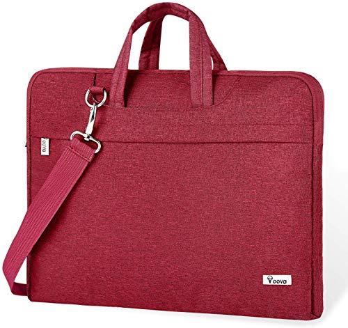 Voova Laptoptasche 15 16 15.6 Zoll Laptop Hülle Tasche mit Griff Schulterriemen, Wasserdicht Schultertasche Laptop Bag Notebook Tasche für 15-16