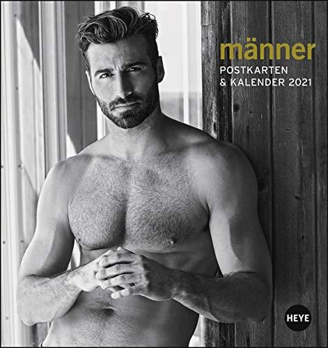 Männer Postkartenkalender 2021 - Kalender mit perforierten Postkarten - zum Aufstellen und Aufhängen - mit Monatskalendarium - Format 16 x 17 cm