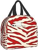 KEROTA Patrón de tigre (2) bolsa de aislamiento de papel de aluminio bolsas de almuerzo WorkOfficePicnicmultifunción elegante caja de almuerzo para mujeres, hombres y niños