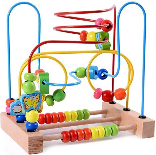 Ljfjf Animal Bead Maze Roller Coaster Colorido Ábaco Círculo Juguete Educativo Temprano Juguetes De Madera Bebé Niño Juguetes Para Niños Niñas