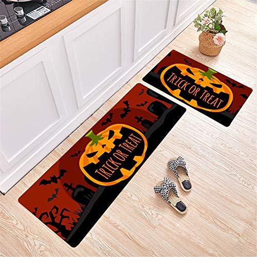 Halloween Nordic Modern Non-Slip Water-Absorbing Oil-Absorbing Mats Simple Geometric Rectangular Printing Mats Kitchen Mats Hotel Restaurant Carpets