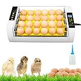 KKTECT Incubadora automática huevos-24,función LED alta eficiencia, volteo automático huevos, control automático...