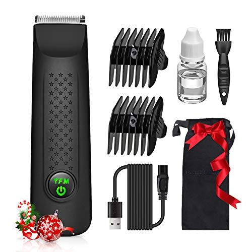 Y.F.M Multifunktionale Körperhaartrimmer, Haarschneidemaschine, Barttrimmer, Ohr- und Nasenhaartrimmer, selbstschärfende Metallklingen, Akku-Haarschneider Set für die ganze Familie - wasserdicht