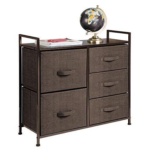 espresso 5 drawer dresser - 5