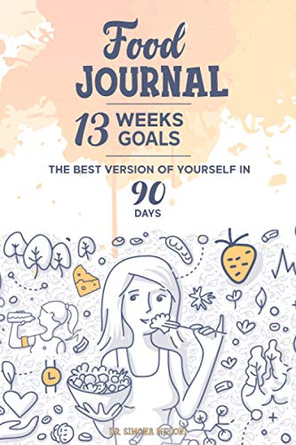 """FOOD JOURNAL: Created by Nutritionist Dr. Simona Meloni, Contains """"The 13 Small Steps Path"""" that help you get back in shape in 90 days while you stay ... your foods, physical activity, and much more"""