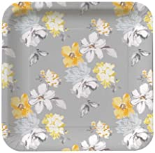 8-Count Square Paper Dinner Plates, Dove Flowers