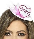 Party-Teufel Mini Hut Aufschrift Braut oder Team Braut mit Brautschleier und Haarclips...
