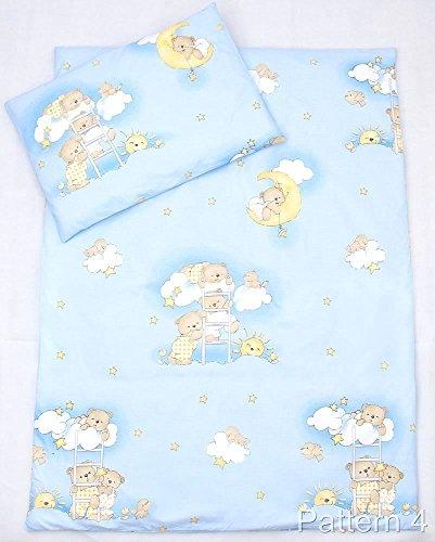 Jersey de coton Lit Bébé Drap-housse 160 x 70 cm, Bleu