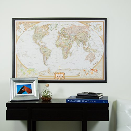 Craig Frames Wayfarer, Executive World Push Pin Travel Map