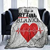 This is My Greys_Anatomy Watching Blanket Blanket Super Soft Fleece Throw Blankets for Living Room Bedding Sofa Bedroom Blankets Decor(80'x60'for Adult)
