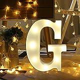 Xshuai Lettres de lettres de l'alphabet anglais à 26 LED en plastique blanc à...
