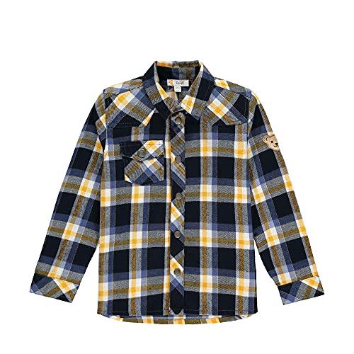 Steiff männlich Langarm Hemd, Bijou Blue, 80