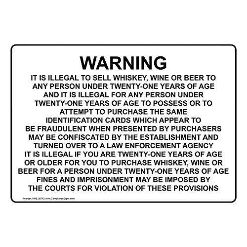 Waarschuwing Het is Illegaal om Whiskey Wijn Verkopen Of Teken met Engels Tekst Wit Metaal Teken voor Voordeur Aluminium Teken Heavy Duty Tin Teken Gift