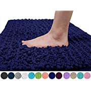 Yimobra Original Luxury Shaggy Bath Mat Large Size 24 X 17 Inches Super Absorbent Water, Non-Slip, Machine-Washable, Soft and Cozy, Thick Modern for Bathroom, Floor