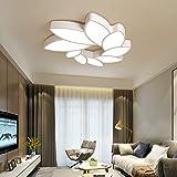 HDHUA Deckenbeleuchtung LED Ombre Blumen Deckenleuchte Weiß Warm Yellow Light Eisen Acryl Kronleuchter Gastronomie Wohnzimmer Study Schlafzimmer Einfach Moderne (Farbe : White Light)