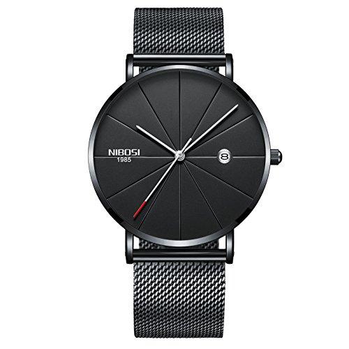 NIBOSI Analogue Men's & Women's Watch (Black Dial)