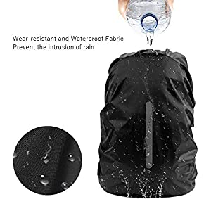 51WtYW36Z5L. SS300  - cubierta impermeable protector de lluvia de mochila,funda impermeable para mochila con Tira Reflectante,funda de lluvia de mochila,funda de mochila antipolvo,cubierta impermeable mochila