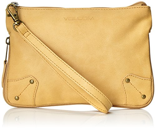 Volcom para Mujer Bolso de Pantalla Famous Clutch Dorado Spice Gold Talla:50 x 33.5 x 10 cm, 0.3 Liter