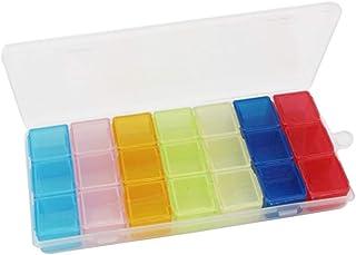 21 Galler Weekly Pill Dispenser Box Outdoor Travel Organizer Storage Plastic 7 Days Pill Case