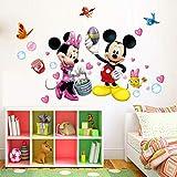 FAROOT Wandtattoo Kinderzimmer Disney Mickey Minnie Mouse