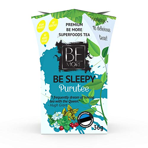 Be Sleepy Loose Leaf Tea - 36G = 18 Cups - Premium Loose Tea to Reduce Your Stress Level and to Support Peaceful Sleep.