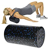 Vive Foam Roller - 18 Inch High Density Massage Stick for Back, Firm Trigger Point, Yoga, Physical Therapy and Exercise - Long Round Massager for Leg, Calf, Deep Muscle Tissue Full Body Stretch