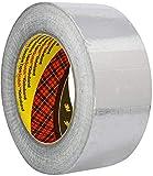3M 1436 Rollo de cinta adhesiva de aluminio, resistente a llamas y altas temperaturas, 50 mm x 50 m, plata
