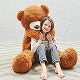 MaoGoLan Giant Teddy Bear Large Stuffed Animal Toys Big Teddy Bear for Girlfriend (55 Inch, Dark Brown)