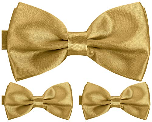 BomGuard luxus-gold 3er set herren-fliege schleifen fliegen