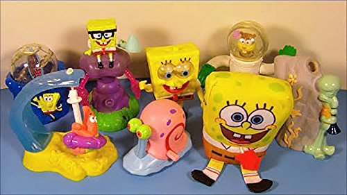 Burger King -Spongebob Squarepants Complete Set - 2002