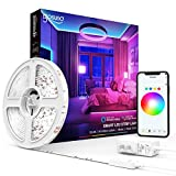 Smart LED Strip Lights Gosund Smart Tape Light Works with Alexa Google Home16.4feet, APP Control, Sync with Music, 5050 RGB Color Changing Lights for Bedroom, TV, Kitchen, Bar, Party (1pcs)
