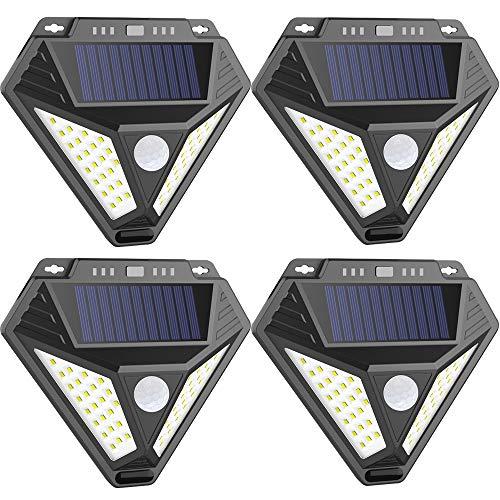 Solar Lights Outdoor, SONATA Solar Motion Sensor Light Outdoor IP 65 Wireless Waterproof Security Lights for Garden Patio Yard Deck Garage Fence Pool 4-Pack