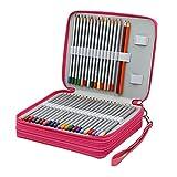 Finerolls 124 Trous Trousse Pochette Sac de Crayon Organisateur Crayon Porte-Crayons pour l'école...