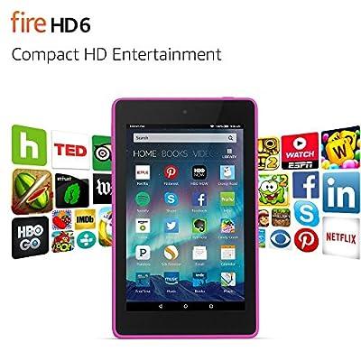 """Fire HD 6, 6"""" HD Display, Wi-Fi, 8 GB, Magenta"""