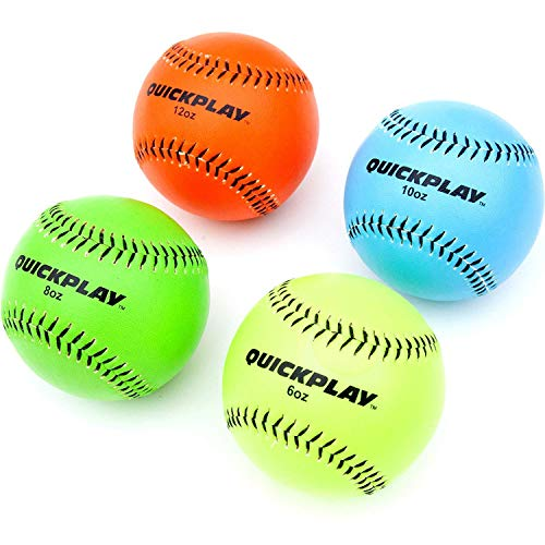 QuickPlay - Weighted Pitching Balls 4 Pack (6oz, 8oz, 10oz, 12oz)