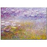 Claude Monet pinturas de lirio de agua en la pared arte lienzo impresiones impresionista Monet paisa...