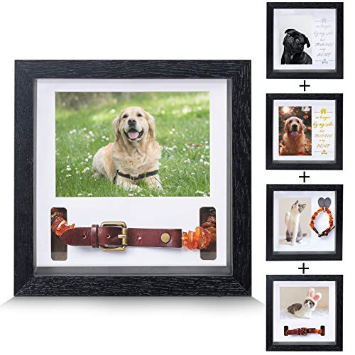 KCRasan Pet Memorial Picture Frame - Dog Picture Frame or Loving Dog Remembrance Frame - Loss of Dog Gifts for Pet Collar Frame,Sympathy Dog or Cat Tribute Keepsake