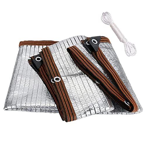 Sunshade Net, Reflecterende aluminium plaat Koeling Sunshade Net, Shirting Prijs 75%, Geschikt voor balkon, Terras, Carport (Size : 4 * 5m)