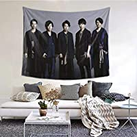 嵐 タペストリー 壁飾り芸術 キャラ柄 毛布 おしゃれ 壁掛け ぶとん 客間 ソファー 寝室 装飾 背景布 個性ギフト