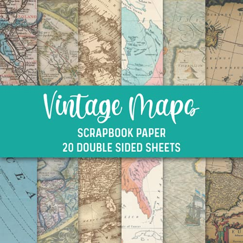 Compare Textbook Prices for Vintage Maps Scrapbook Paper, 20 Double Sided Craft Patterns: Travel Map Sheets for Papercrafts, Album Scrapbook Cards, Decorative Craft Papers, & ... Craft Papers Scrapbook Paper Pack  ISBN 9798742618416 by Books, yoNme